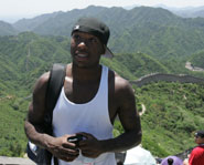 Nate Robinson at the Great Wall of China.