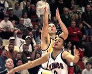 Valparaiso's Bryce Drew hits a buzzer beater in the 1998 NCAA Tournament.