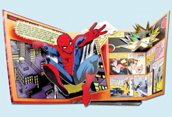 The Amazing Spider-Man Pop-Up is the first in a series of Marvel pop-ups from Scholastic.