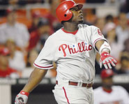 2006 National League MVP Ryan Howard of the Philadelphia Phillies.