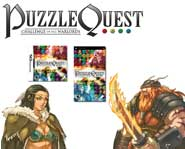 Puzzle Quest turns a gem-matching online game into a wild adventure for DS and PSP! Here's our game review.