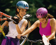 Mountain biking is a challenging and fun outdoor activity.