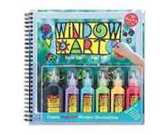 You can make your own re-stickable window art with Klutz Window Art!