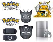 Get the 411 on the Pokemon Diamond and Pearl launch, new Transformers pictures for Xbox 360, PS3 game downloads and more!