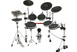 Electronic drum kits are less noisy than traditional drums.