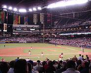 Chase Field is home of the MLB's Arizona Diamondbacks.