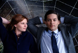 Tobey Maguire and Kirsten Dunst star in Spider-Man 3.