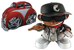 i-Playaz is available in Chub City hip hop characters or VW Beetles.