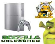 Get the 411 on new PS3, PS2 and PSP games! Plus, a Godzilla game countdown and Shrek game trailers to download!