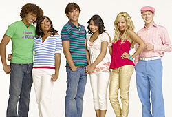 Zac Efron and Vanessa Hudgens star in High School Musical.