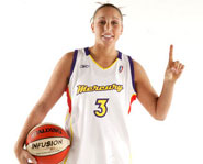 Diana Taurasi of the Phoenix Mercury is one of the WNBA's fastest rising stars.