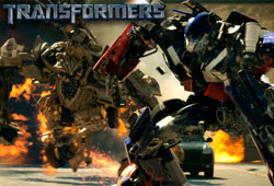 The heroic Autobots and evil Decepticons bring their battle for the All Spark to Earth in this new movie.