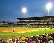 Minor league baseball includes the second and third tier leagues under the MLB.