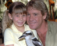 Steve Irwin guest starred in a few episodes of Bindi: The Jungle Girl before his death.