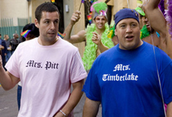 Adam Sandler plays Chuck in I Now Pronounce You Chuck and Larry.