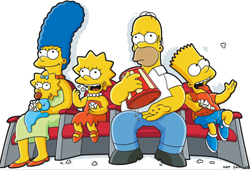 The Simpsons played the small screen for 17 years before hitting the big screen in 2007.