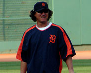 Magglio Ordonez of the Detroit Tigers is one of the best players in the MLB.