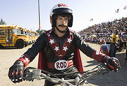 SNL's Andy Samberg plays an aspiring stuntman in Hot Rod.