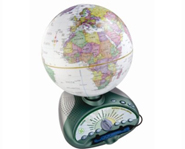 The LeapFrog Explorer Globe allows you to test your geography skills.