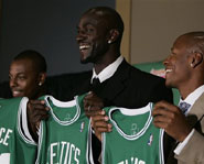 NBA superstar Kevin garnett was traded to the Boston Celtics this week.