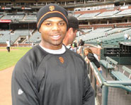 Rajai Davis plays center fielder for the San Francisco Giants.