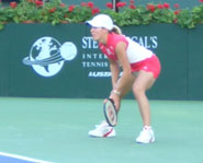 Justine Henin is the number one ranked female tennis player in the world.