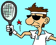 Playing too much tennis could result in tennis elbow, which is caused by small tears in the forearm muscles.