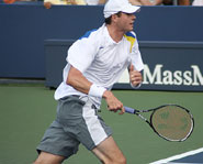 Six foot, nine inch tennis player John Isner has been a pleasant surprise at the US Open so far.