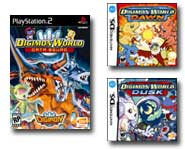 Get the scoop on Digimon Data Squad for PS2 and the Digimon World: Dawn and Dusk DS games, right here!