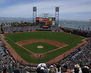 AT&T Park is the home of the San Francisco Giants.