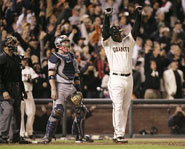 Barry Bonds played his final home game as a member of the San Francisco Giants on September 26, 2007.