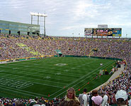 Lambeau Field is home of the NFL's Green Bay Packers.