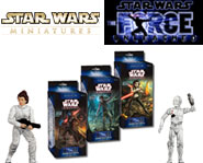 Feel the power of the Force with our sneak previews of the video-game based Star Wars Miniatures set!