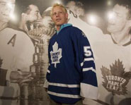 Jason Blake of the Toronto Maple Leafs has been diagnosed with a rare form of leukimia.
