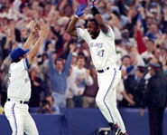 Former Toronto Blue Jays star, Joe Carter, hit a home run to win the 1993 World Series!