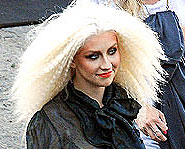 Here's Christina Aguilera out and about in Hollywood.
