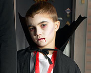 A vampire is a classic Halloween costume.