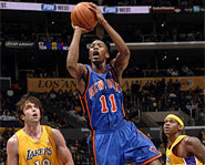 Jamal Crawford of the New York Knicks is one of the deadliest scorers in the NBA.
