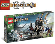 Build the good knight and the evil skeletons with their carriage for an exciting battle! We review this LEGO Castle kit here.