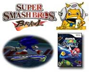 Check out these preview pics and videos of Sonic Riders: Zero Gravity, Super Smash Bros. Brawl, Super Mario Galaxy and more!