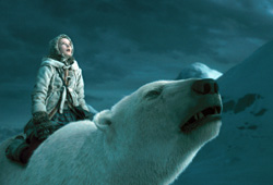 Philip Pullman's book, The Golden Compass, comes to life in the film of the same name.
