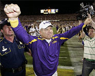 On January 7, 2008, the LSU Tigers will face the Ohio State Buckeyes in the BCS National Championship Game.