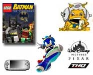 LEGO Sonic X Games http://www.kidzworld.com/article/10213-walle-games-sonic-video-skype-on-psp-and-lego-batman