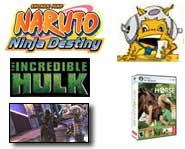 Darth Vader and Yoda invade Soulcalibur, new Pokemon cards are coming, Naruto has a destiny on DS, Hulk games spotted and My Horse and Me Pictures!