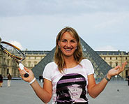 Russian tennis sensation Svetlana Kuznetsova is one of the top female players in the world.