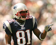 Randy Moss of the New England Patriots is one of the best receivers in the history of the NFL.