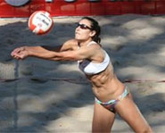 Angie Akers is one of the best beach volleyball players in the world.