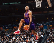 In the 2000 Slam Dunk Contest, Vince Carter put on one of the most spectacular performances in the history of the contest.