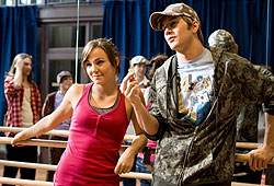Briana Evigan and Robert Hoffman star in Step Up 2 the Streets.