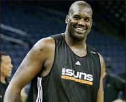 Shaquille O'Neal made his Phoenix Suns' debut on Wednesday night against his former team the Los Angeles Lakers.